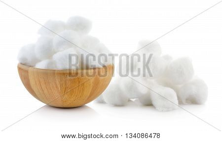 cotton wool isolated on a white background