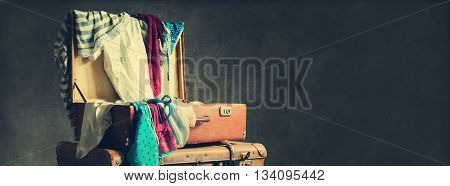 Female Clothing Scatter Trunk Vintage Style Toned