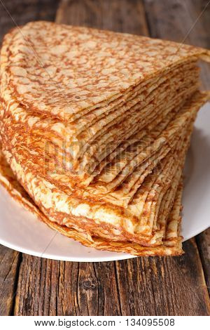 stack of crepe