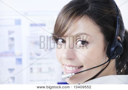 Call Center, Customer Service And Headphones