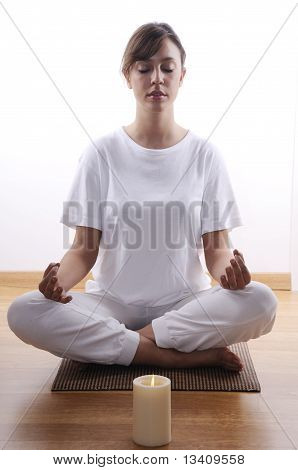 Yoga And Meditation Of Young Woman