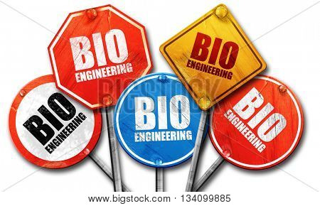bio engineering, 3D rendering, rough street sign collection