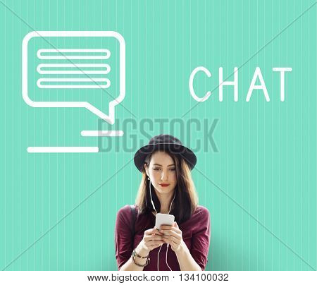 Chat Communication Online Blog Share Concept