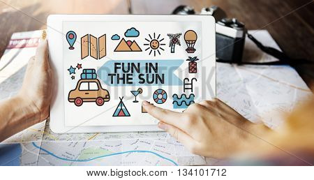 Travel Vacation Sun Fun Enjoyment Concept
