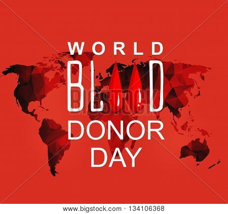 World blood donor day-June 14th. vector . World blood donor day card. Illustration of World blood donor day