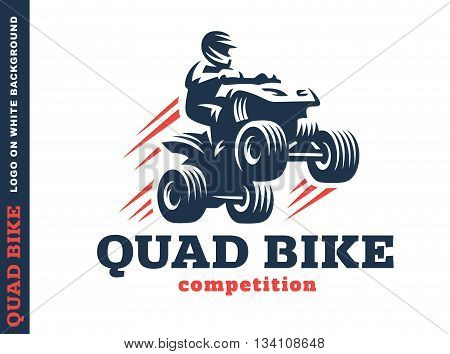Quad bike competition. Logo design on a white background