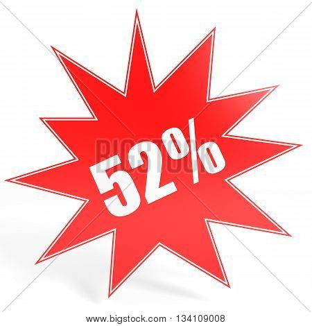 Discount 52 Percent Off. 3D Illustration.