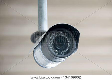 Close-up Closed circuit camera or Closed-circuit television (cctv)