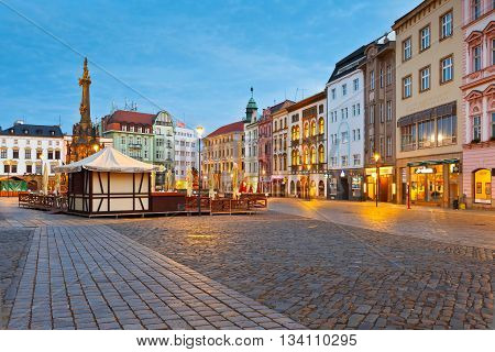 OLOMOUC, CZECH REPUBLIC - JUNE 05, 2016: Holy Trinity Column in the main square of the old town of Olomouc, Czech Republic on June 05, 2016.