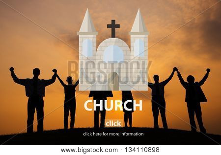Church Faith Religious Temple Worship Assembly Concept