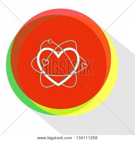 atomic heart. Internet template. Vector icon.