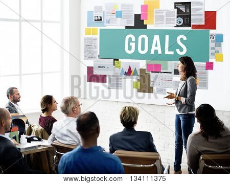 Goals Aim Aspiration Dreams Inspiration Vision Concept
