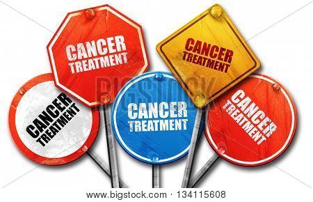 cancer treatment, 3D rendering, rough street sign collection