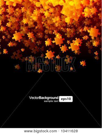Puzzle piece vector background