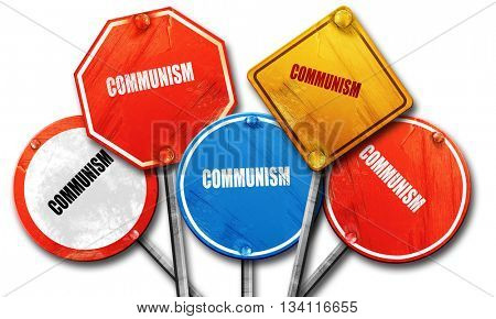 communism, 3D rendering, rough street sign collection