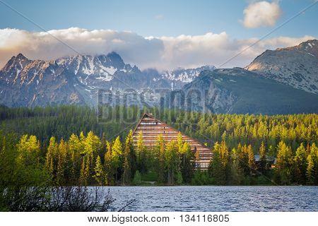 Slovakian Tatry Strbske Pleso Landscape