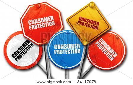 consumer protection, 3D rendering, rough street sign collection