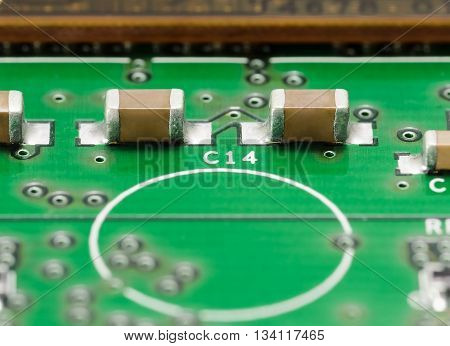 Smd Capacitors On Pcb