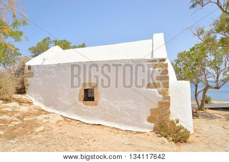 Church Agios Georgios Sarantaris in Hersonissos on Crete island Greece.