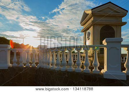 SEVASTOPOL, RUSSIA - JUNE 09, 2016: Monument to Alexander Pushkin at Cape Fiolent. Heraclean peninsula on the southwest coast of Crimea. Balaclava district of Sevastopol.