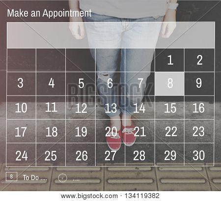 Calendar Date Organizer Planner Plan Concept