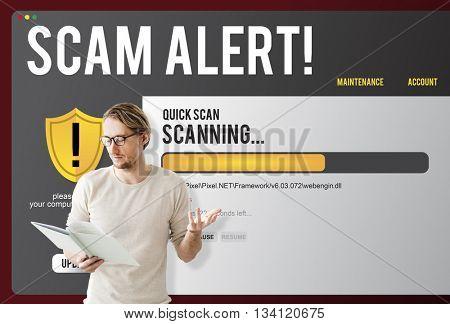 Scam Alert Start up Businessman Concept