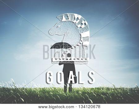 Goals Aim Believe Confidence Inspiration Target Concept