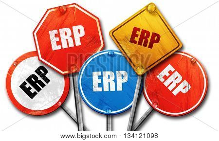 erp, 3D rendering, rough street sign collection