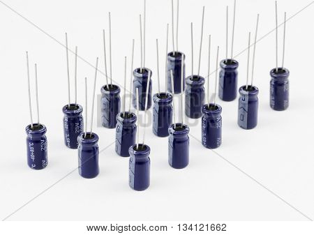 Electrolytic Capacitors Rows