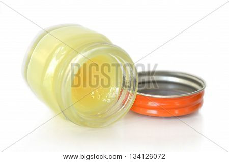 Thai herbal balm in the bottle on white background