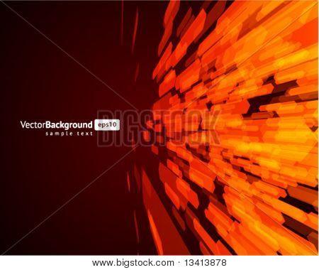 Abstrakte fliegen Sechseck Formen Vektor Hintergrund. EPS 10