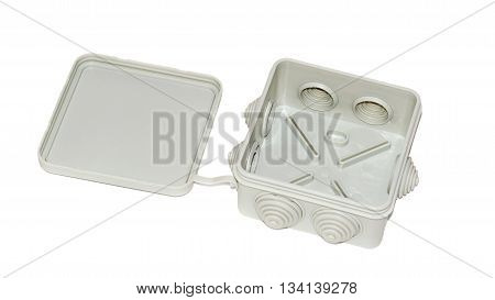 Junction Box Isolated On White Background
