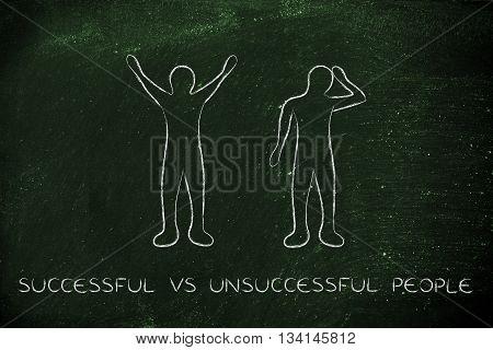 Successful Vs Unsuccessful People Reactions