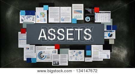 Assets Accounting Bookkeeping Estate Finance Concept