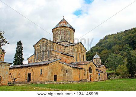 Nice view of Gelati Monastery, Georgia in the autumn