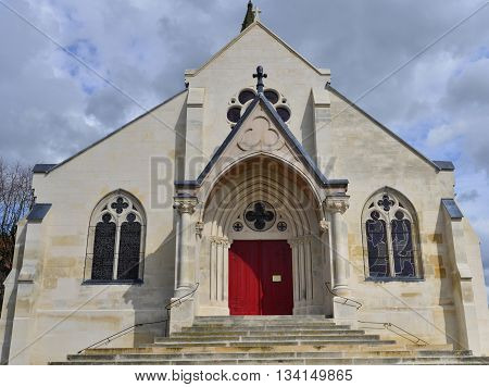 Conflans Sainte Honorine France - april 4 2016 : the Saint Maclou church