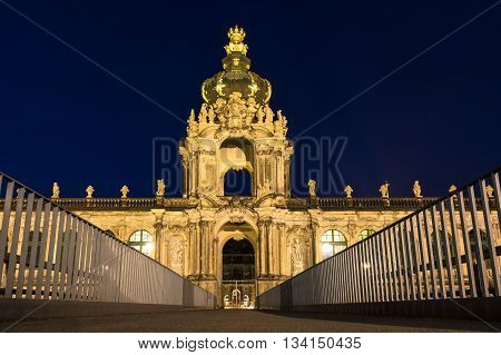 Historical building in Dresden (Germany) at night.