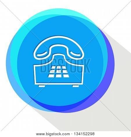 push-button telephone. Internet template. Vector icon.