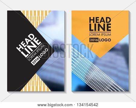 Annual Report cover design. Corporate business template for leaflet, brochure and flyer. Business booklet for catalog, website, advertising and presentation.