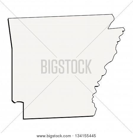 Vector Arkansas State 3D Outline Map Illustration