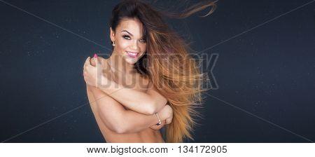 Smiling Naked Girl.