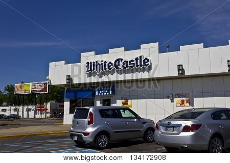 Indianapolis - Circa June 2016: White Castle Hamburger Location. White Castle Serves 2 by 2 Inch Sliders II