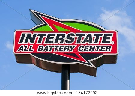 Interstate Battery Center Sign And Logo