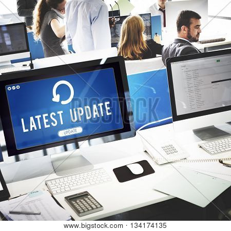 Update Upgrade Installation Latest Updating Concept