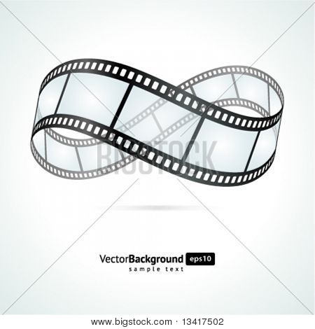 Film strip infinity vector background