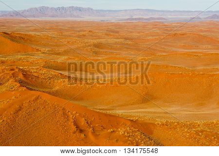 Airwiev Of The Dunes Of Sossusvlei, Namibia