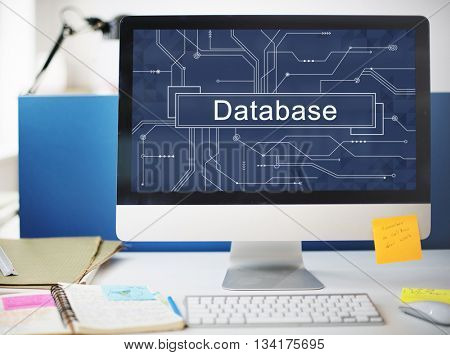 Database System Server Network Information Data Concept