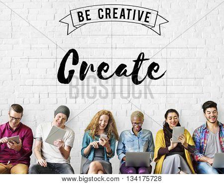 Create Creative Creativity Ideas Imagination Inspire Concept