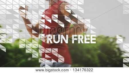 Run Free Activity Exercise Healthy Fitness Sprint Concept