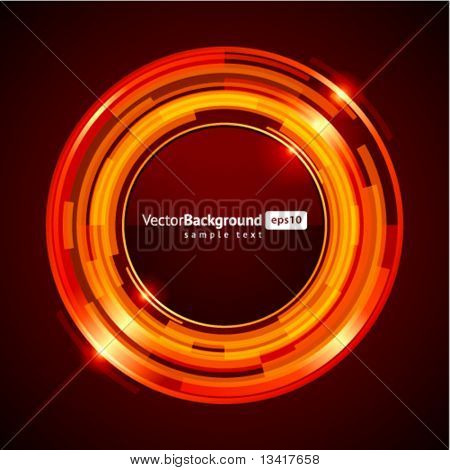 Abstract retro technology circles vector background